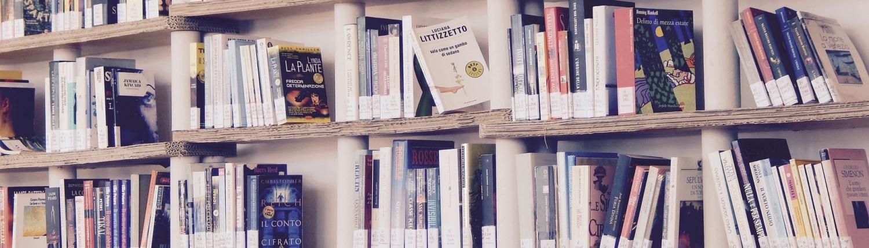 Bücher verkaufen, die in einem Regal stehen
