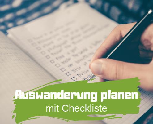 Auswanderung mit Checkliste
