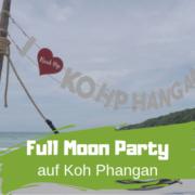 Strand von Koh Phangan mit Full Moon Party