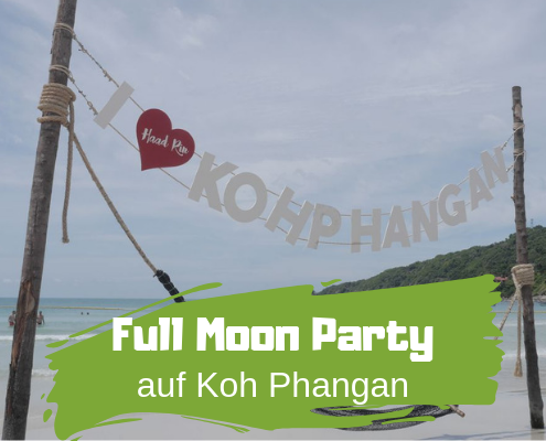 Strand von Koh Phangan mit Full Moon Party