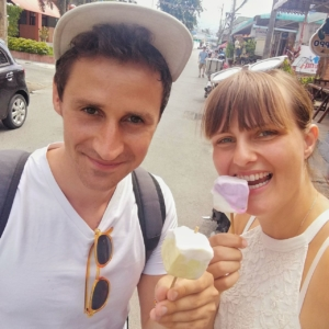 Eis aus Kokos und Durian
