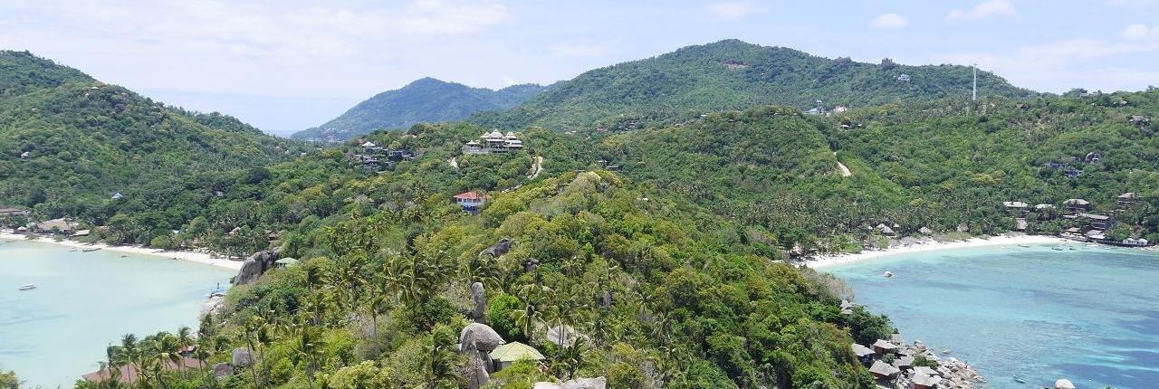 Ausblick vom Viewpoint auf Koh Tao